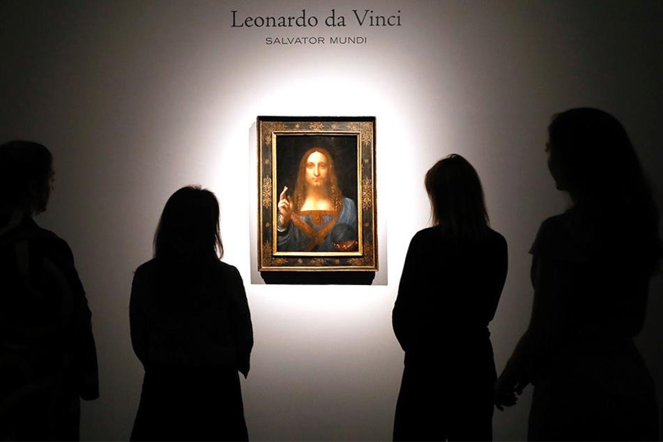 """Erst im Spätherbst 2017 wurde das da-Vinci-Gemälde """"Salvatore Mundi"""" für viel Geld versteigert."""