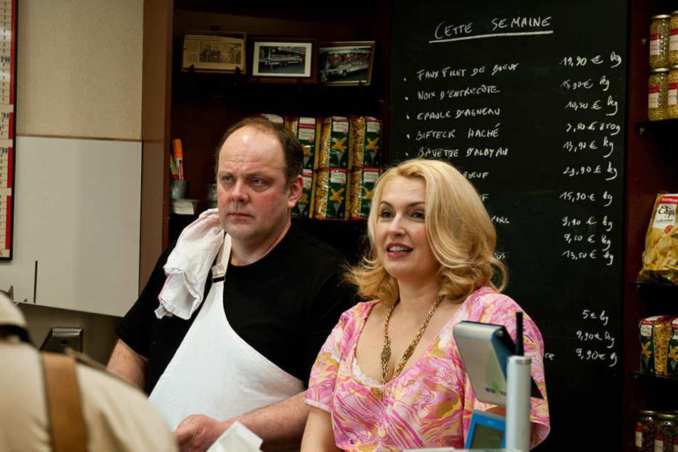 Fleischer Roger (Gregory Gadebois) und Gisele (Lucie Muratet) haben ganz unterschiedliche Ansichten zur Idee des Fotokünstlers.