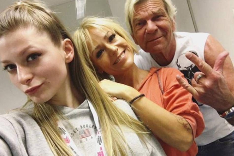 Ein Bild aus glücklichen Tagen: Marie-Louise Reim, Mutter Michelle und Vater Matthias Reim.
