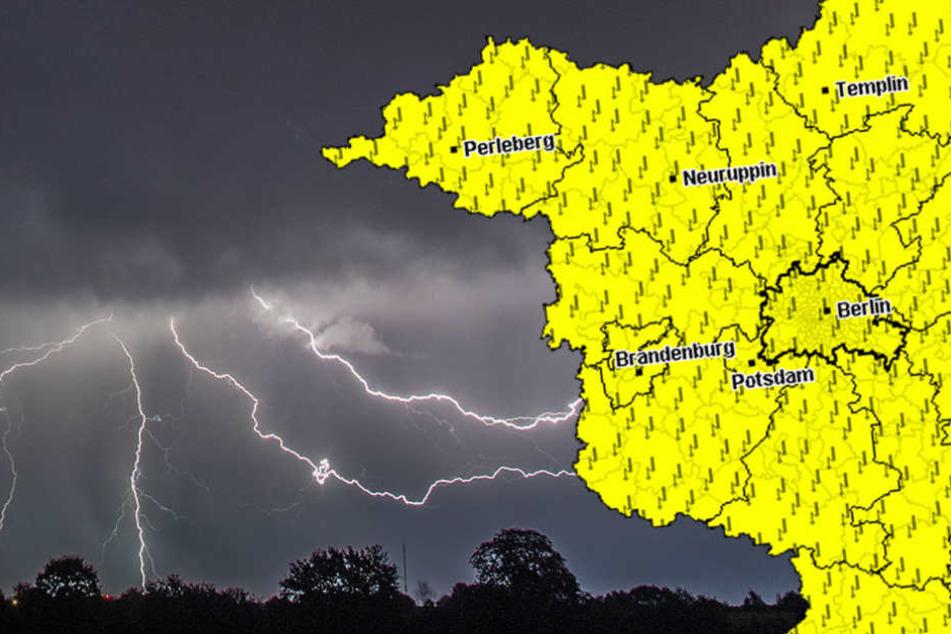 Dienstagnacht soll es erneut starke Unwetter über Berlin und Brandenburg geben. (Symbolbild)