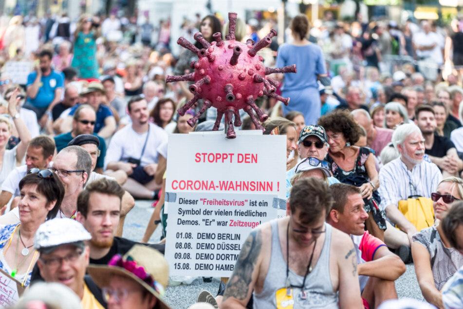 Gegner der Corona-Maßnahmen demonstrierten bereits im August in Hamburg.