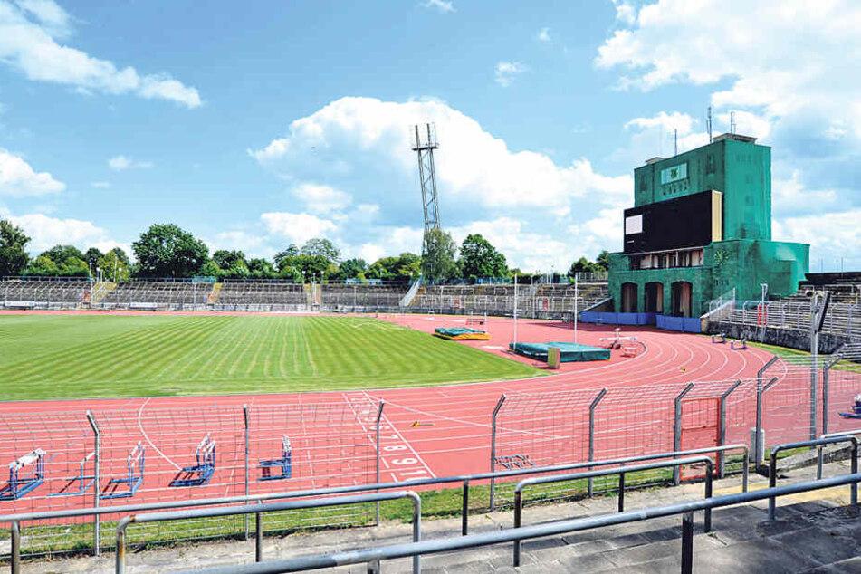 Das Sportforum Chemnitz wird Ende Oktober zum Katastrophengebiet.