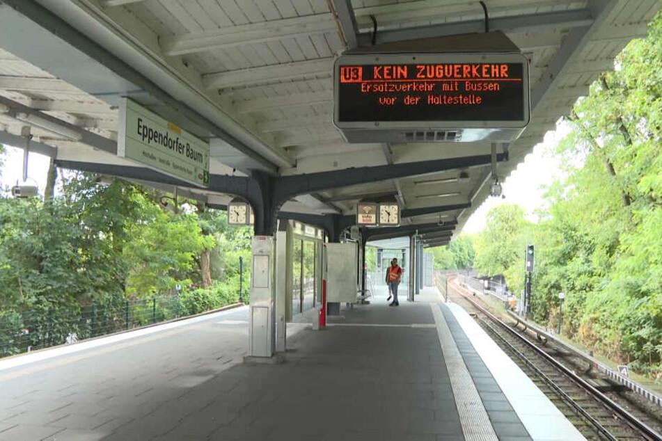 An der Haltestelle Eppendorfer Baum können derzeit keine Züge halten.