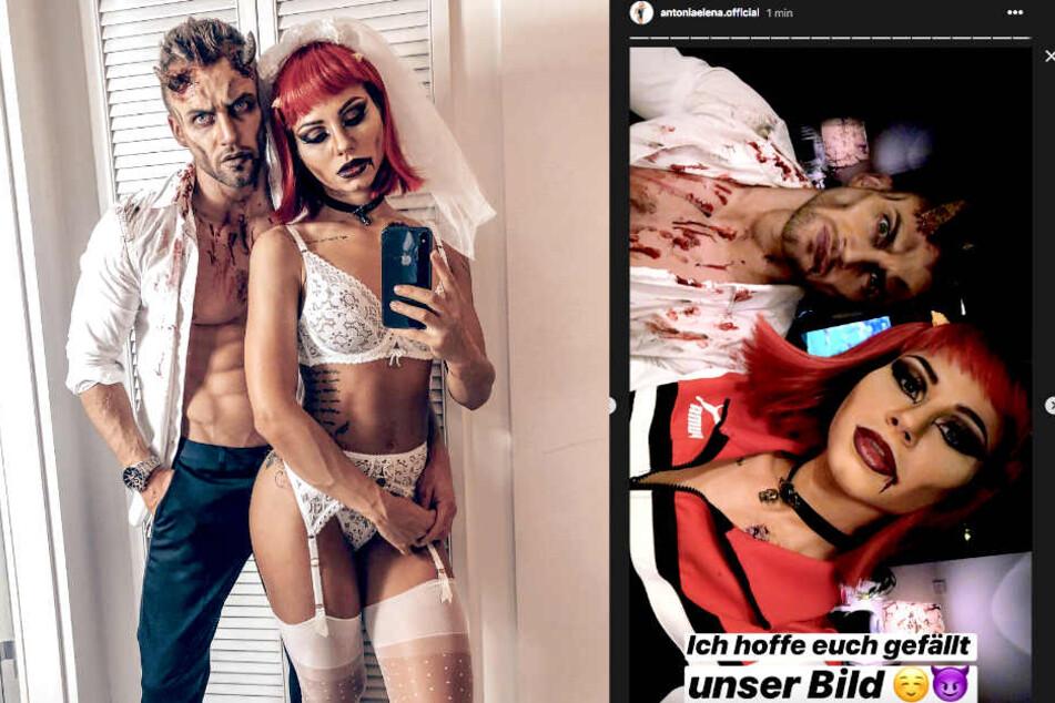 Auf Instagram präsentieren Philipp Stehler (30) und seine neue Freundin Antonia (25) ihre verruchten Halloween-Outfits.
