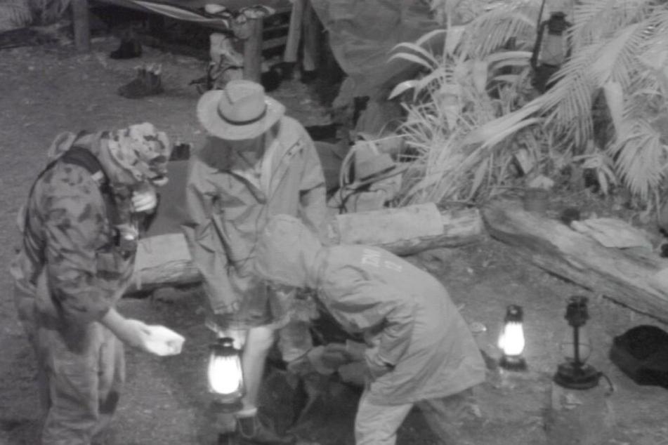 Die tödliche Trichternetzspinne wurde im Camp gesichtet.
