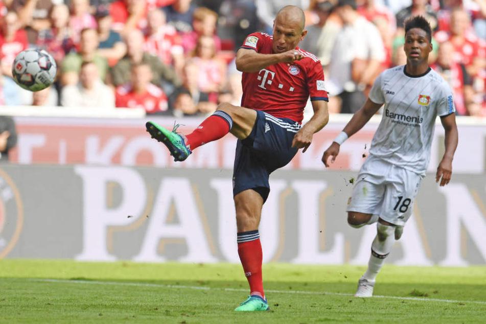 Arjen Robben erzielte in der ersten Hälfte das 2:1 für den FC Bayern München.