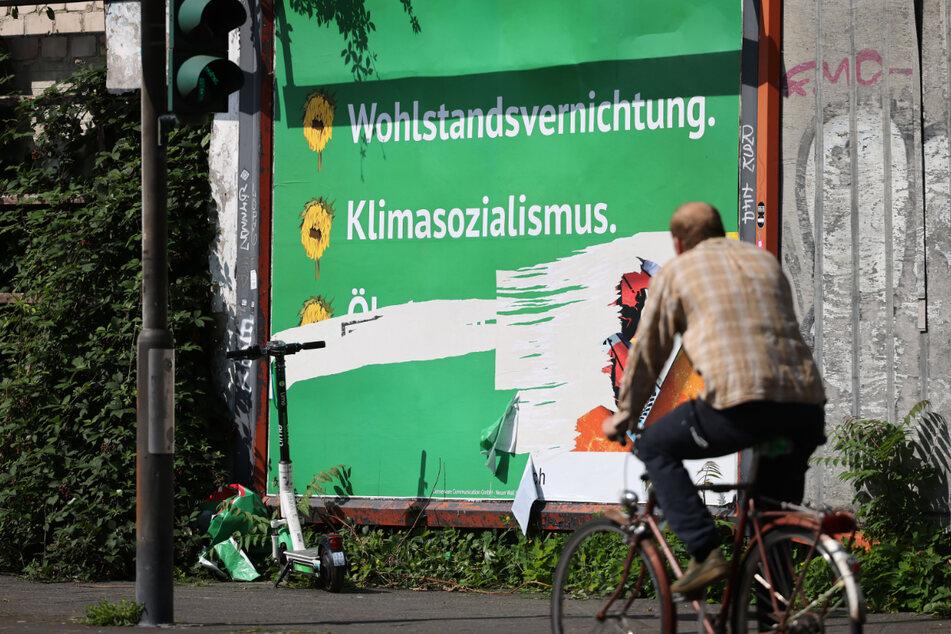 Im August wurden die Grünen Opfer einer von rechten Akteuren finanzierten Anzeigenkampagne.