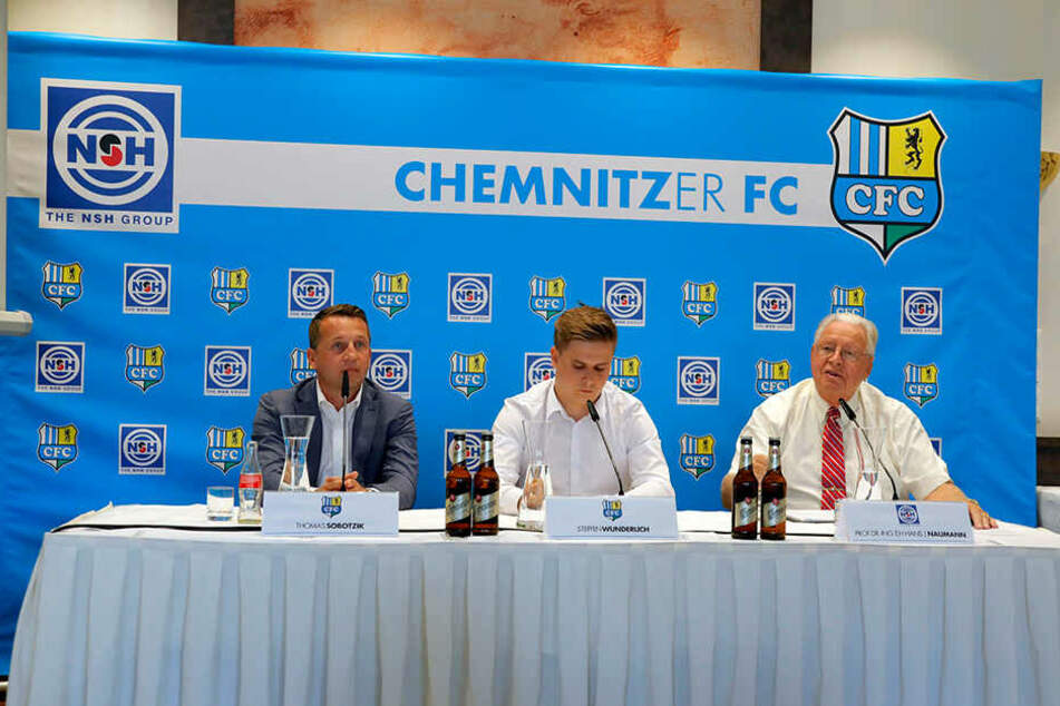 Am Dienstag stellte der Chemnitzer FC seinen neuen Sponsorf vor.