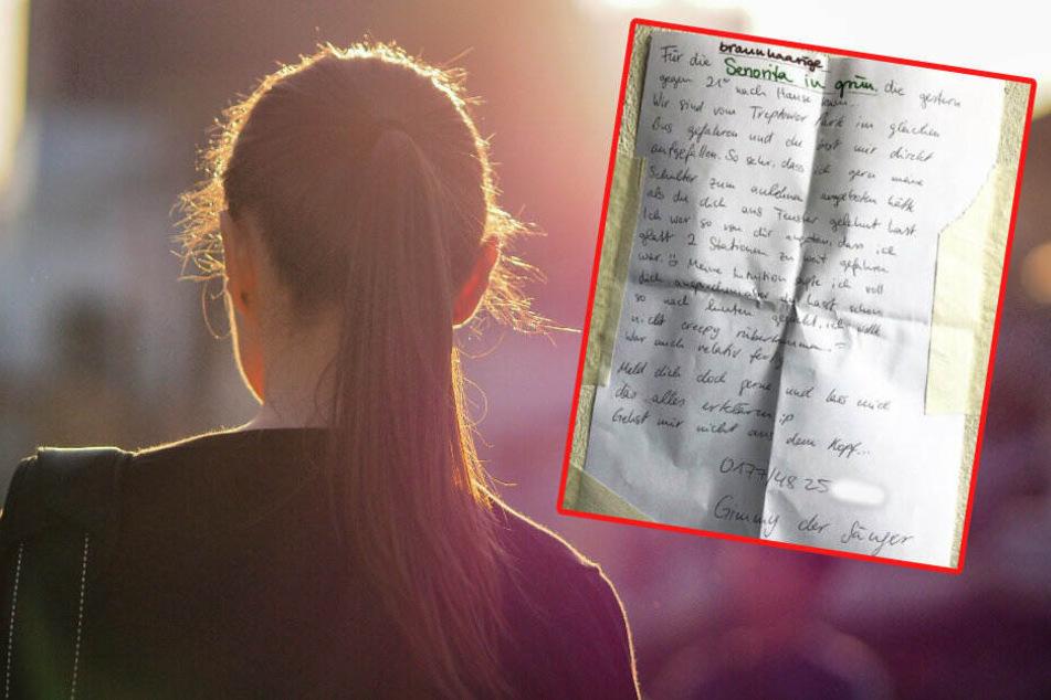 """Mit einem Zettel sucht der Mann nach der """"Seniorita"""" (Bildmontage."""