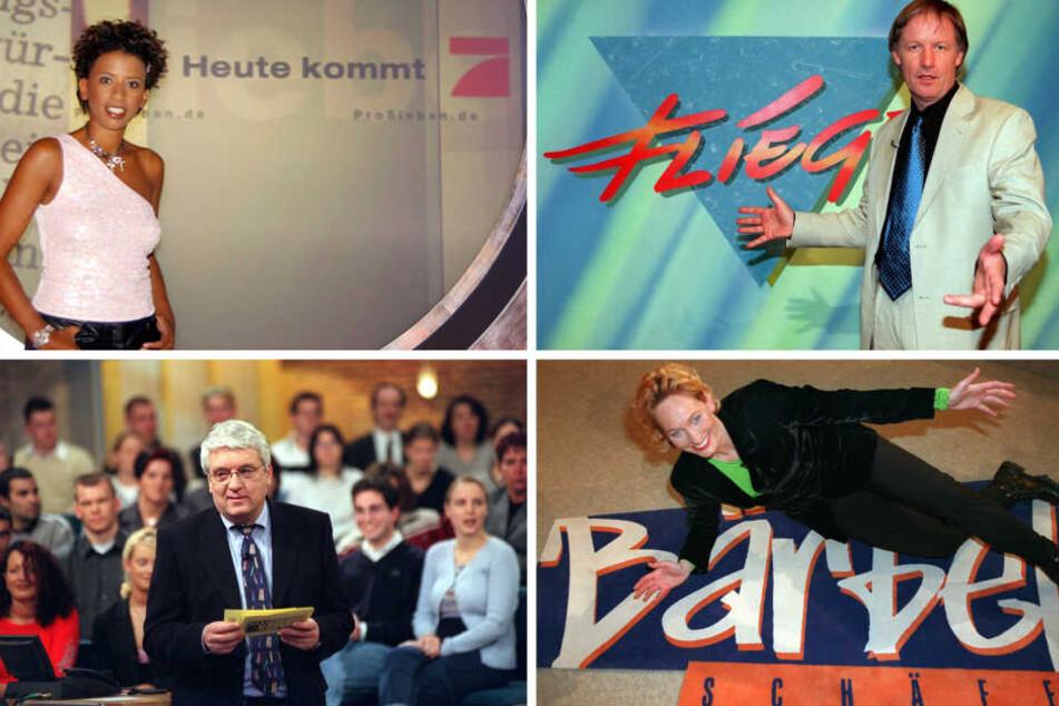 In den 90ern war das mal hip: der Daily-Talk... Von Arabella Kiesbauer (oben, l), über Moderator Jürgen Fliege bis Hans Meiser und Bärbel Schäfer.