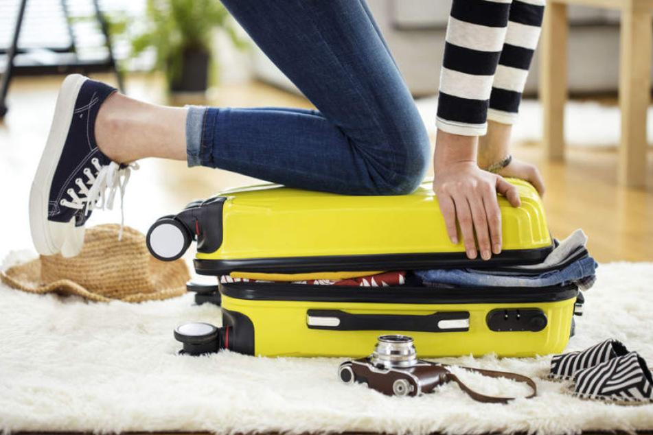 Herausforderung Kofferpacken, manchmal ist es nicht leicht an alles zu denken.