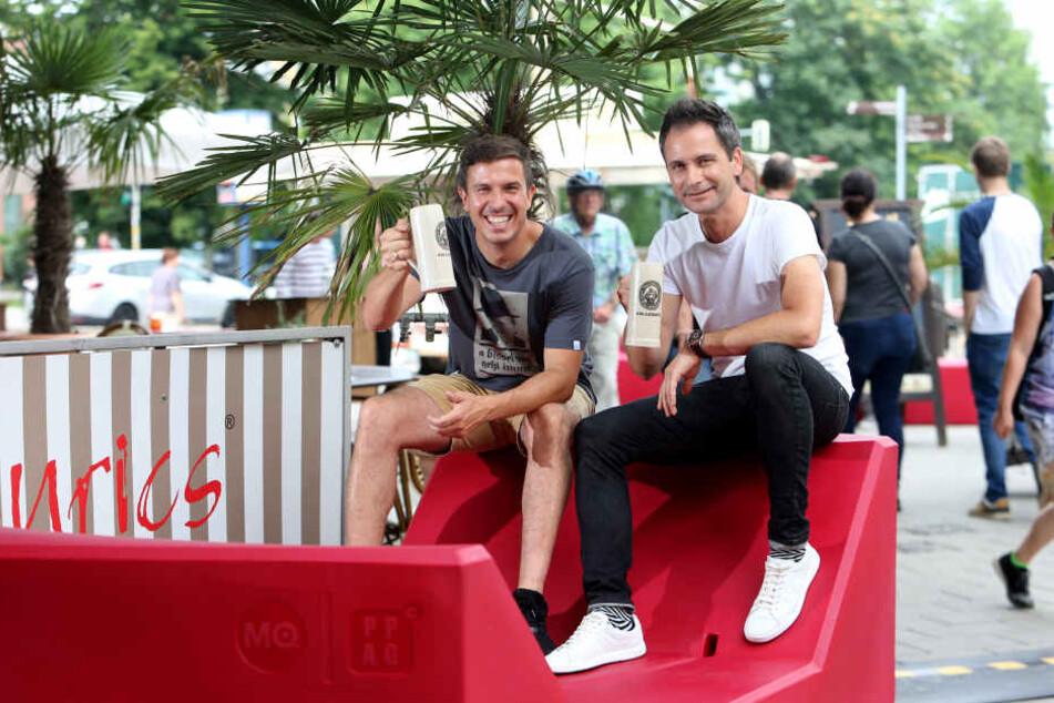 """Die beiden """"Macher"""": Henrik Bonesky (39, links) und Sven Hertwig (46)."""