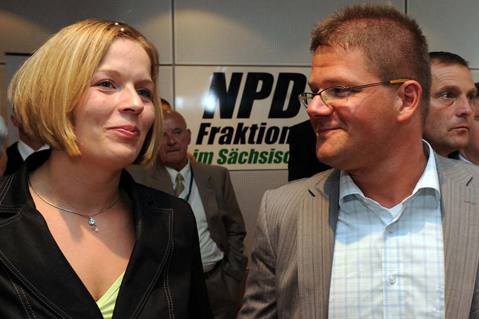 2009 feierten Jasmin und Holger Apfel noch gemeinsam den Wiedereinzug der rechtsextremen NPD in den Landtag.