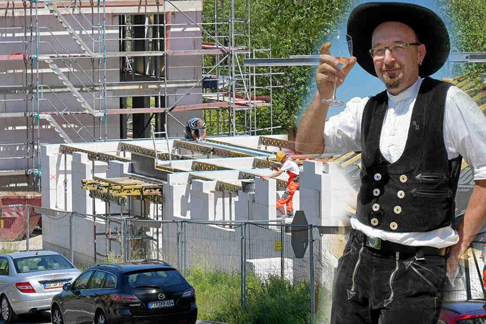 Dresden: 22 Sozialwohnungen entstehen: Erstes Richtfest bei der Woba