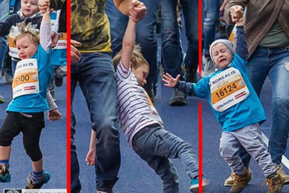 Falscher Ehrgeiz: Eltern zerren Kinder brutal ins Ziel