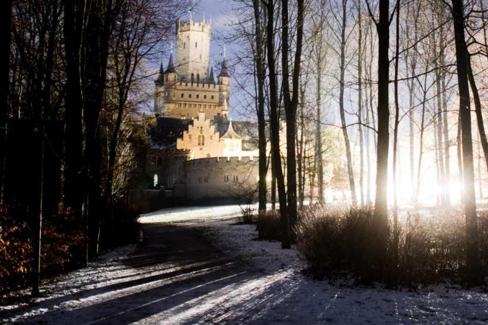 Filmcrew dreht zurzeit Spielfilm auf diesem Märchenschloss