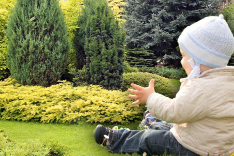 Das kleine Mädchen der Familie spielte im Garten. (Symbolbild)