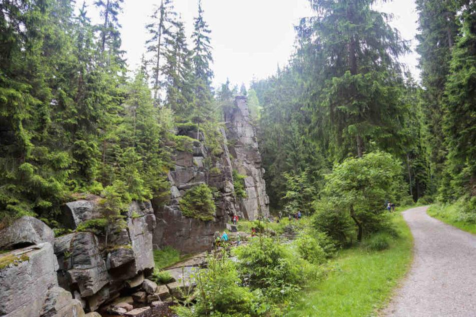 Der Kletterer war von der Teufelsmauer abgestürzt.