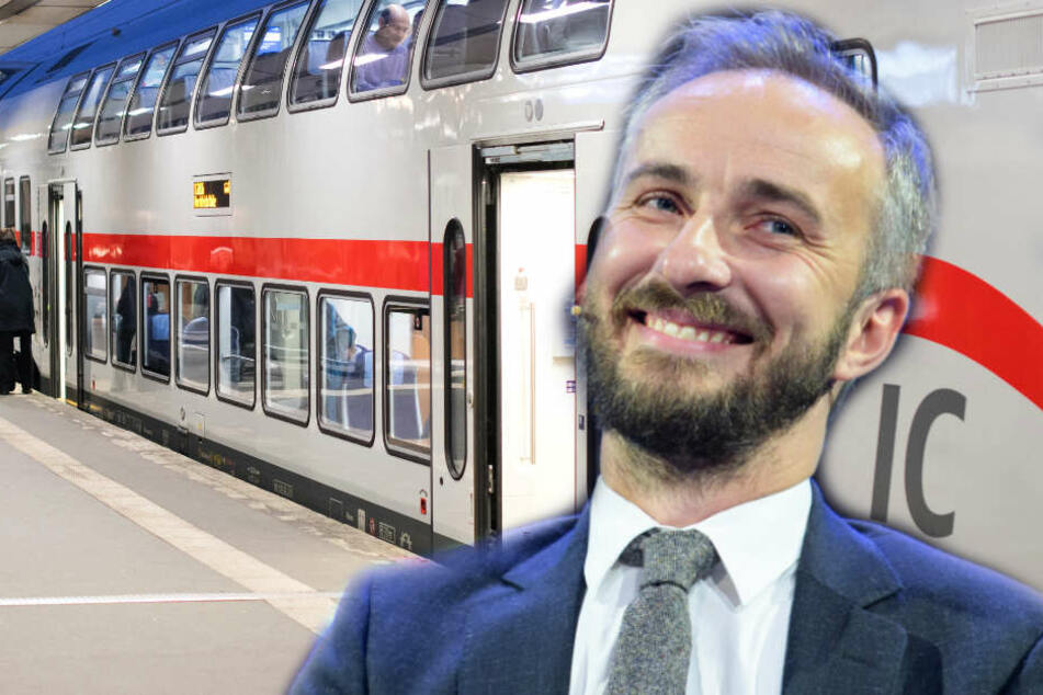 Jan Böhmermann (37) war zuvor in den falschen Zug eingestiegen.