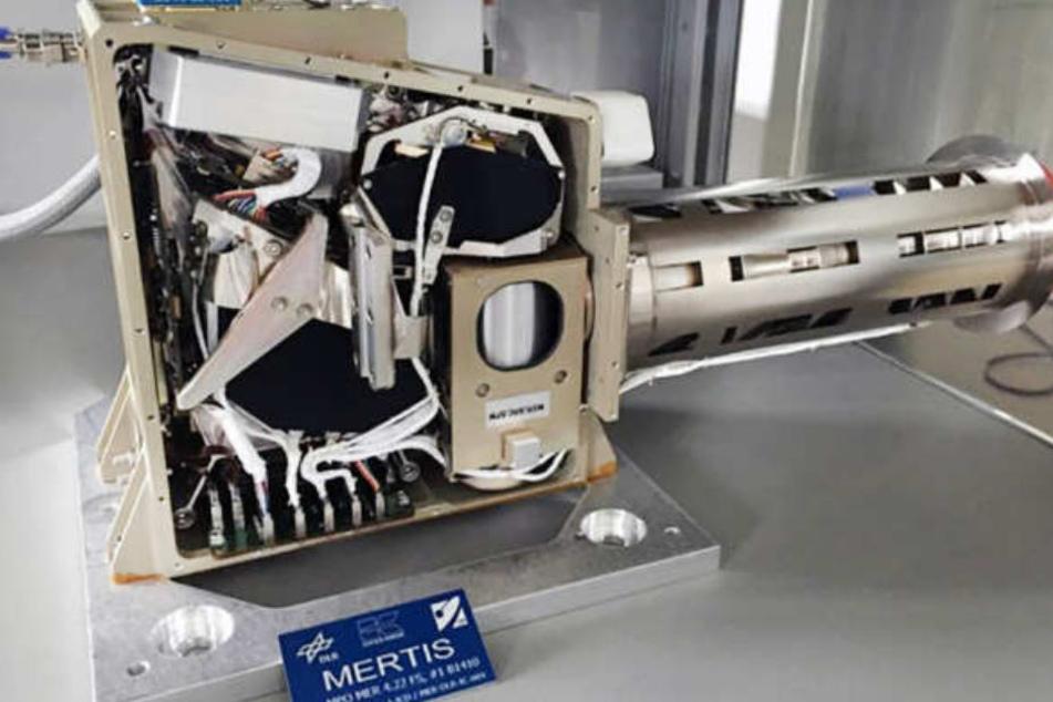 Das Messgerät MERTIS soll Aufschluss über die Oberfläche des Planeten geben.