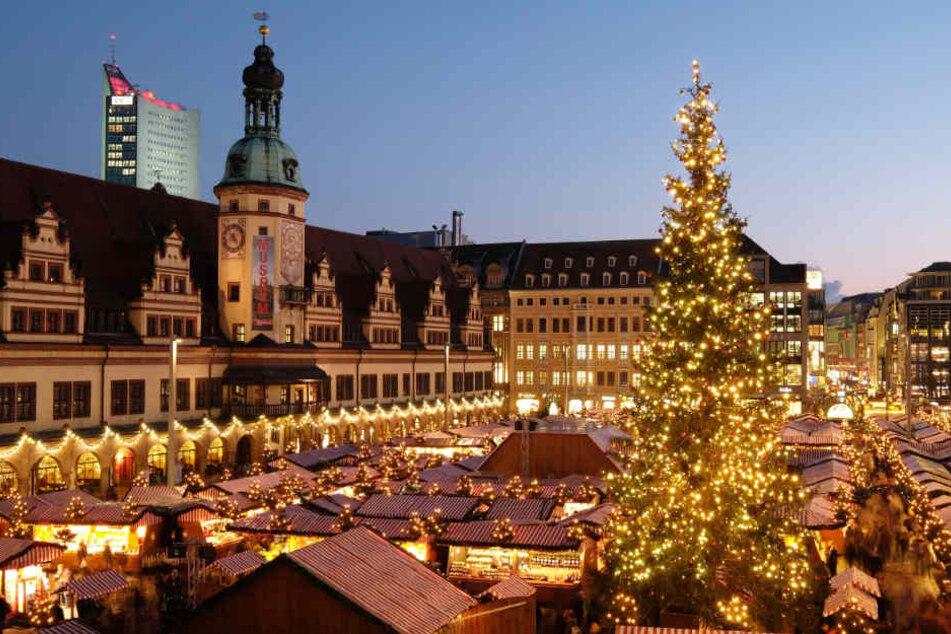 Den Leipziger Weihnachtsmarkt gibt es seit 1458.