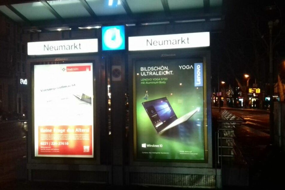 Die Tat ereignete sich am Donnerstagabend auf dem Kölner Neumarkt.