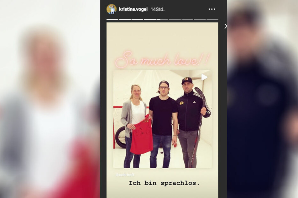 Kristina Vogel zeigte sich in ihrer Instagram-Story beeindruckt von er Aktion.