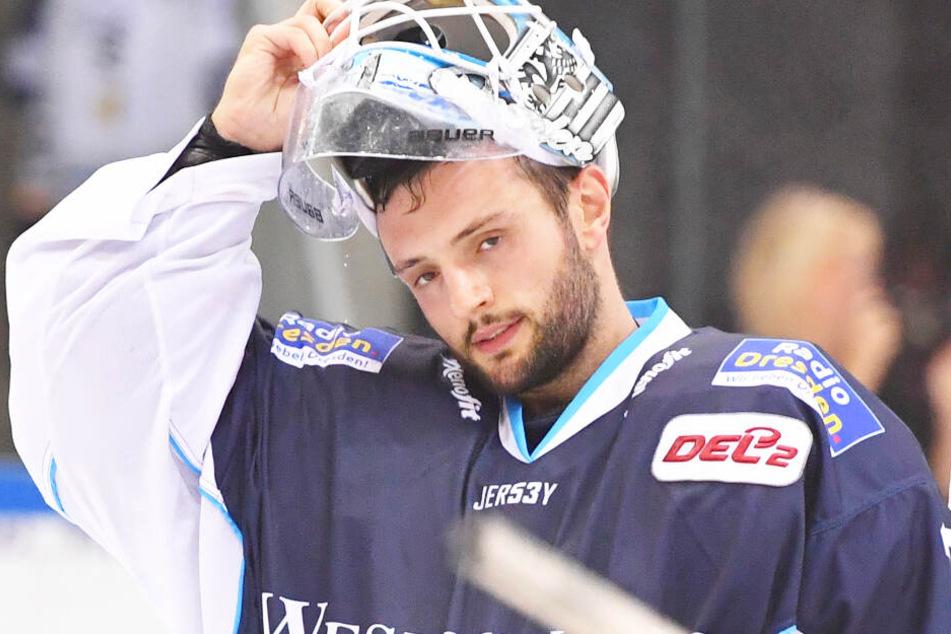 Marco Eisenhut wirkte in Crimmitschau verunsichert.