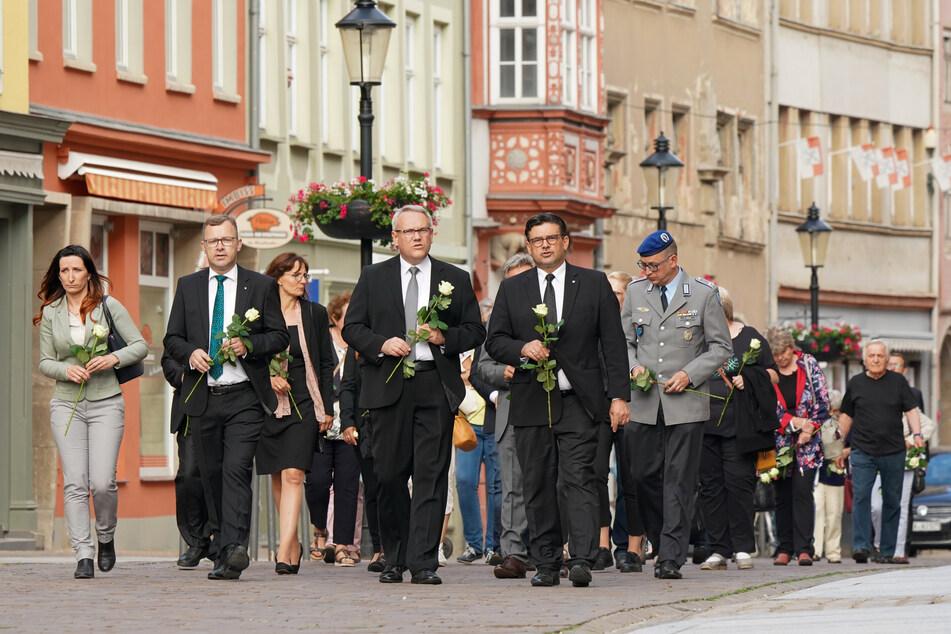 In Naumburg (Burgenlandkreis) wurde am Mittwoch der Corona-Toten gedacht.