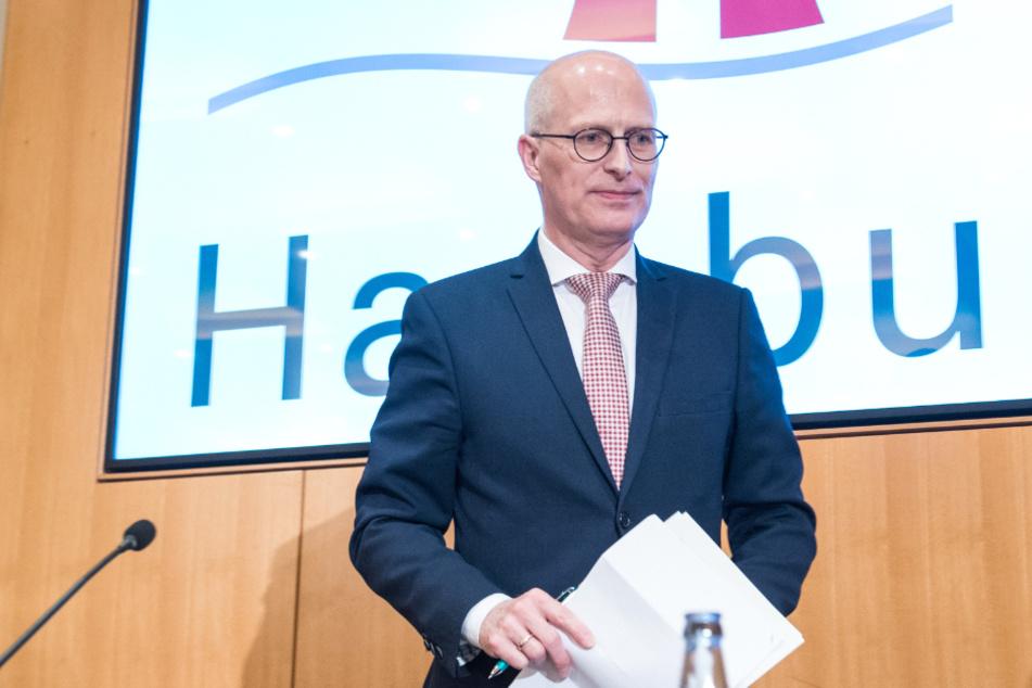 Peter Tschentscher (SPD), Hamburgs Erster Bürgermeister, informiert über die aktuelle Lage in Hamburg.