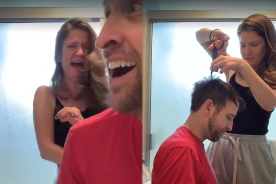 Frau schneidet ihrem Freund die Haare: Jetzt lachen Millionen über das Ergebnis