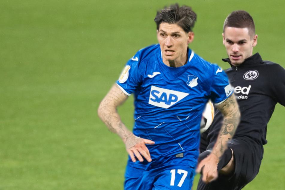 Steven Zuber (l.) soll von der TSG 1899 Hoffenheim zu Eintracht Frankfurt kommen, dafür würde dann Mijat Gacinovic (r.) von den Hessen in den Kraichgau wechseln.