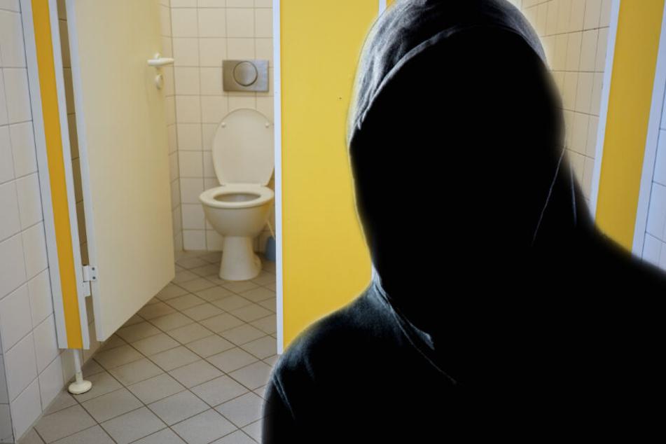 Der Mann überwältigte das Mädchen auf der Toilette. (Fotomontage/Symbolbild)