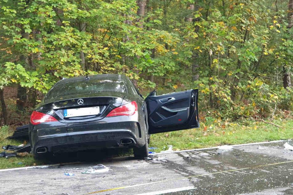 In den Unfall involviert war der Fahrer dieses Mercedeses.