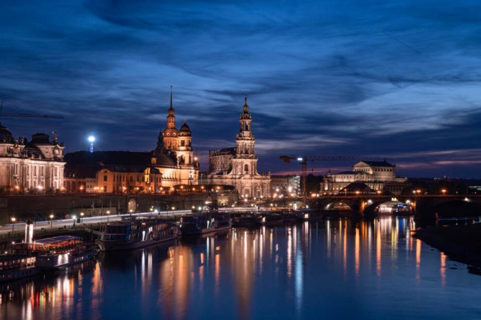 Das Lichtkonzept für die Dresdner Innenstadt könnte schneller umgesetzt werden.