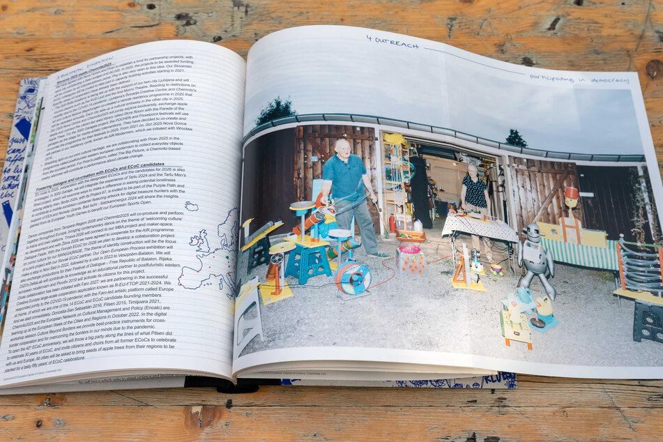 Im Buch gibt es Einblicke in Chemnitzer Garagen, die 2025 eine besondere Rolle spielen sollen.