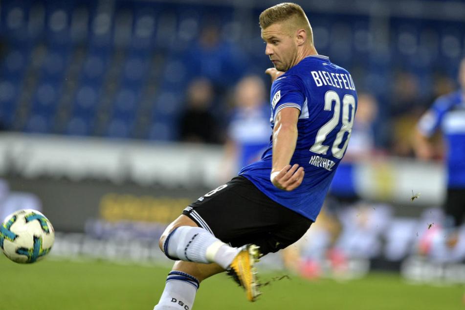 Florian Hartherz erzielte in dieser Saison bereits zwei Tore für den DSC.