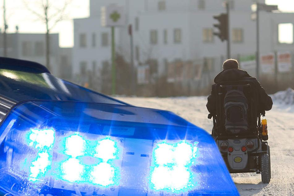 Ein Rollstuhlfahrer wurde bei einem Unfall schwer verletzt.