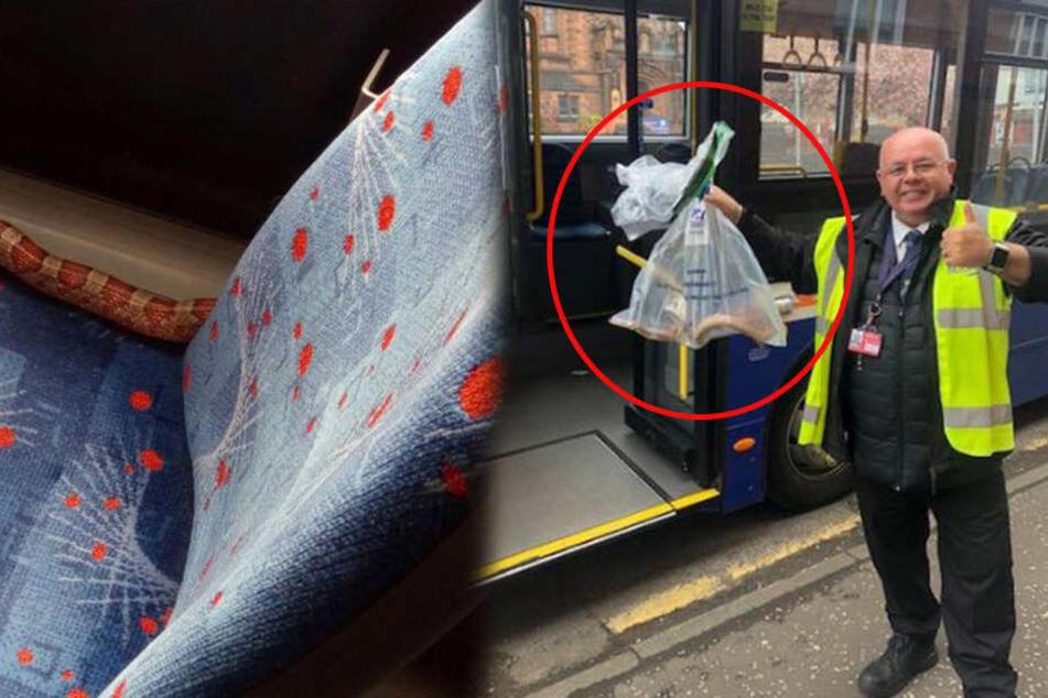 Fahrgäste trauen ihren Augen nicht, als sie diese Entdeckung im Bus machen