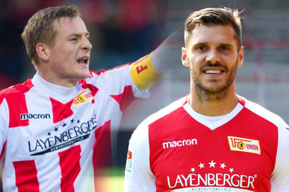 Felix Kroos (l.) wird Vize- Christopher Trimmel der neue Trainer vom 1. FC Union Berlin.