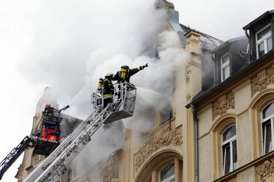 Bei dem Brand in Plauen Anfang Februar sind zwei Menschen ums Leben gekommen.