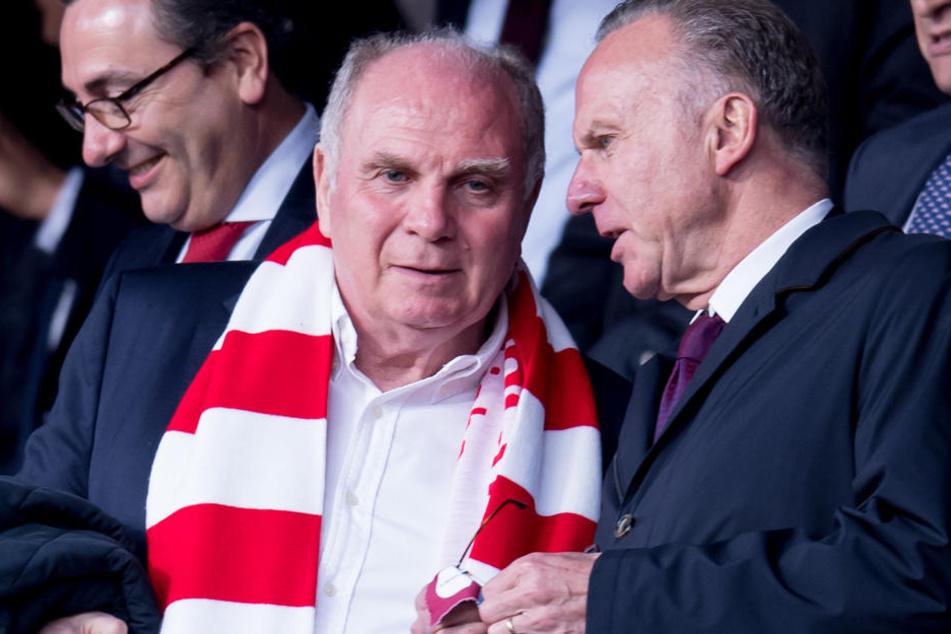 Uli Hoeneß (l.) und Karl-Heinz Rummenigge (r.) haben Kritik geäußert. (Archivbild)