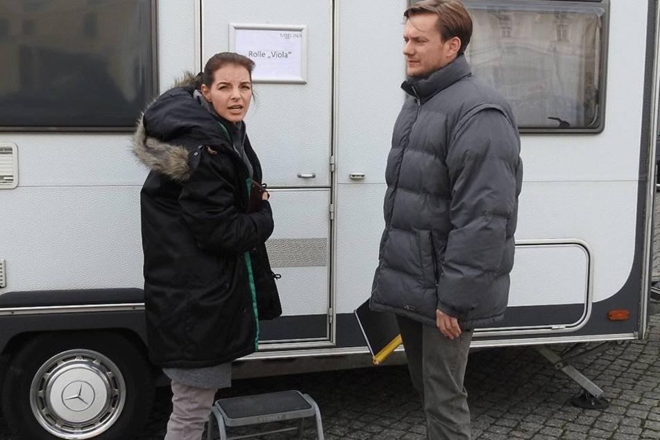 Yvonne Catterfeld (37) und Schauspieler Jan Dose (32) aus Radebeul.