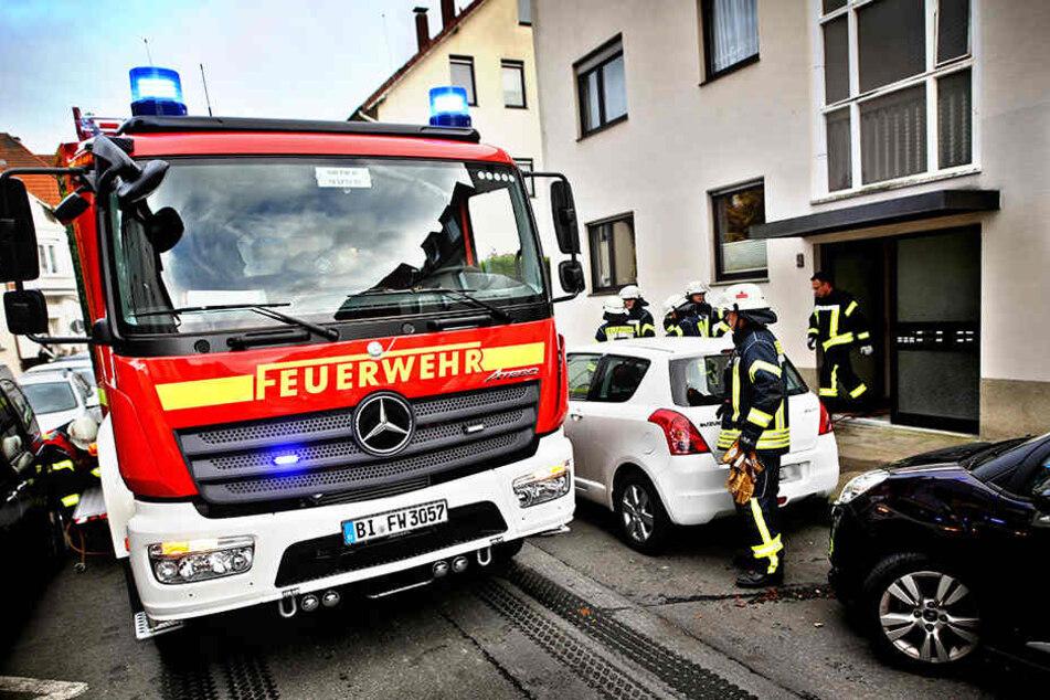 Innerhalb von zehn Minuten hatte die Feuerwehr den Brand im Griff.