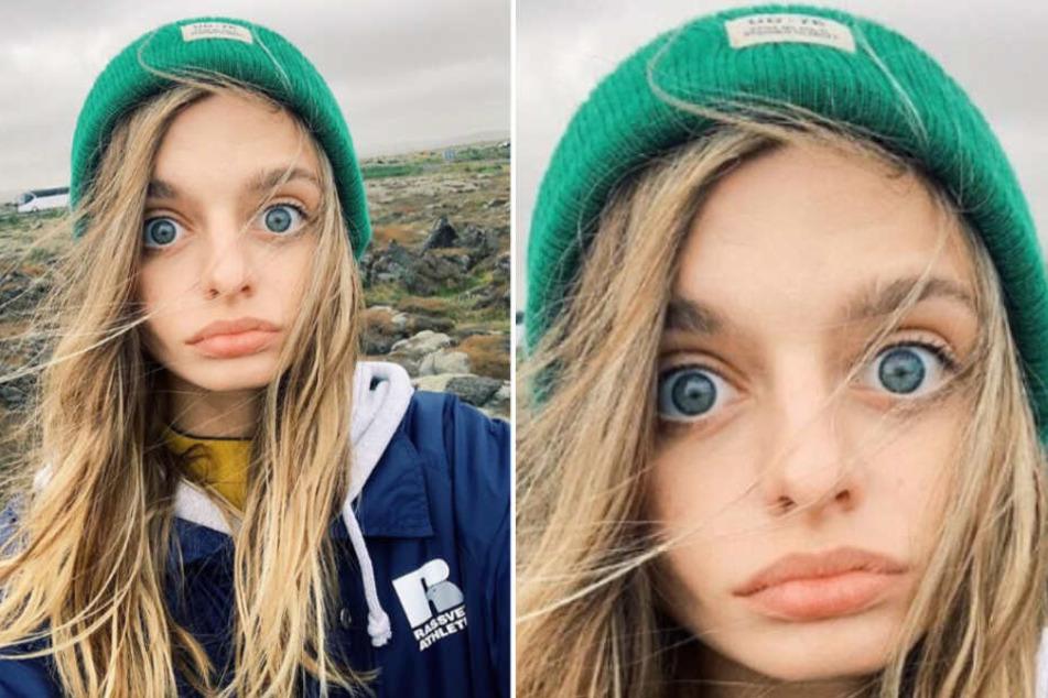 Das Instagram-Model Maria Oz hat außergewöhnlich große Augen.