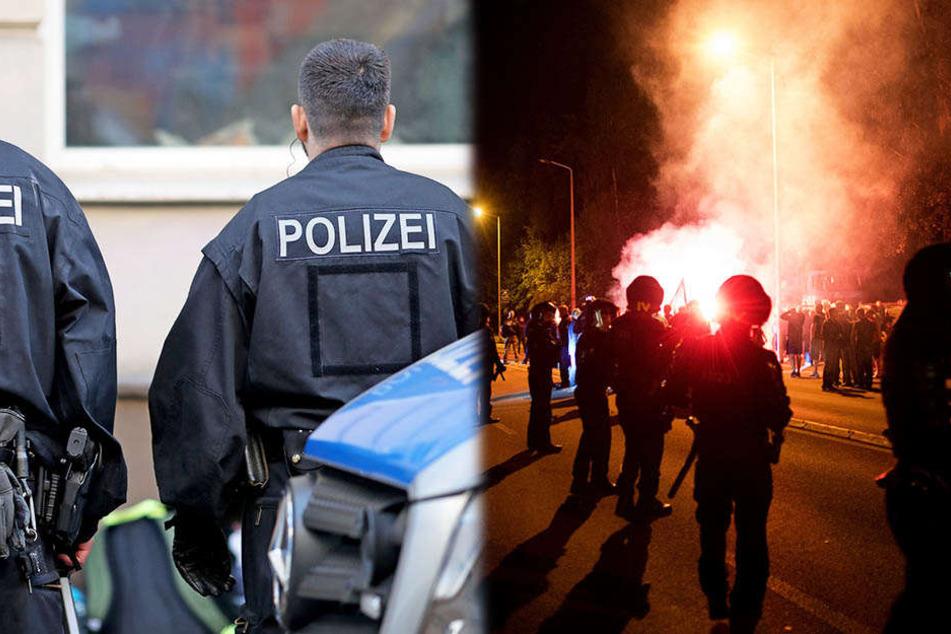 Beamte haben zwei Wohnungen im Zusammenhang mit den Ausschreitungen in Heidenau 2015 durchsucht.