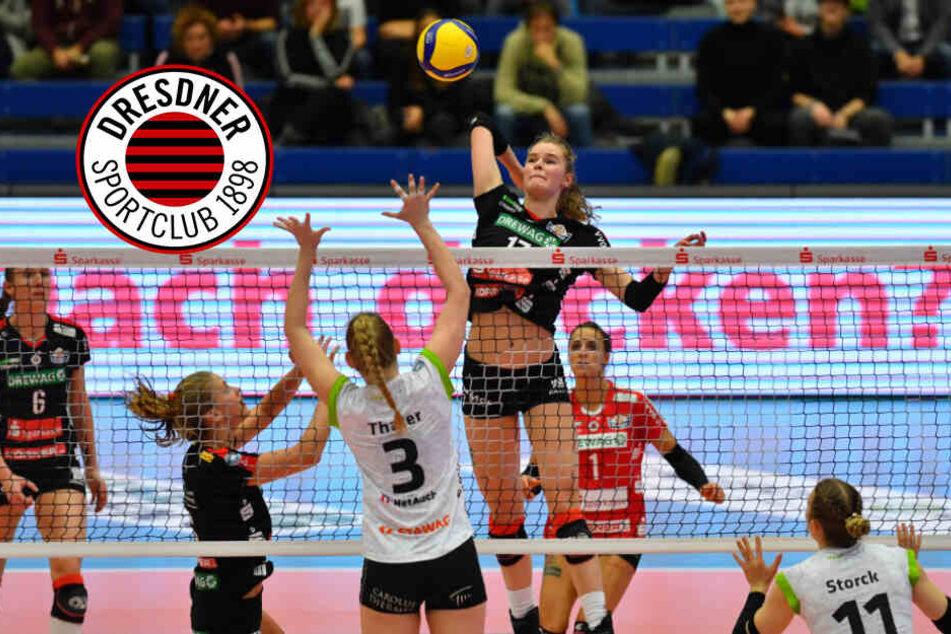 Im Pokalspiel gegen Aachen zeigte der DSC eine strake Leistung. Hier greift Camilla Weitzel gegen Emily Grace Thater an.