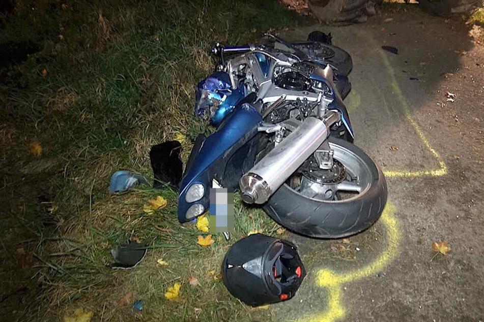 An dem Motorrad entstand ein Totalschaden.