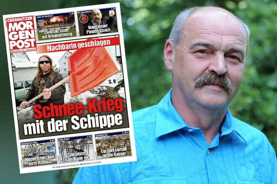 Chemnitz: Nach Attacke mit Schneeschaufel: Bürgermeister sorgt sich um den Dorffrieden