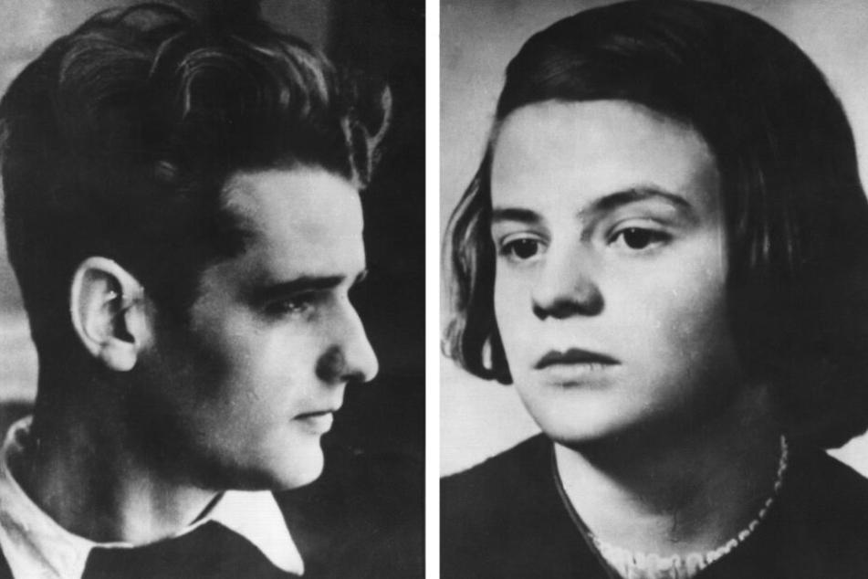 Hans und Sophie Scholl (undatierte Aufnahmen).